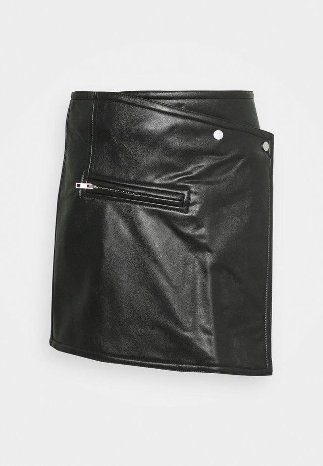 RIDLEY BIKER SKIRT - Jupe trapèze - black