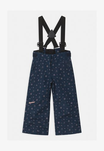 AVATINE SLIM UNISEX - Snow pants - dark blue