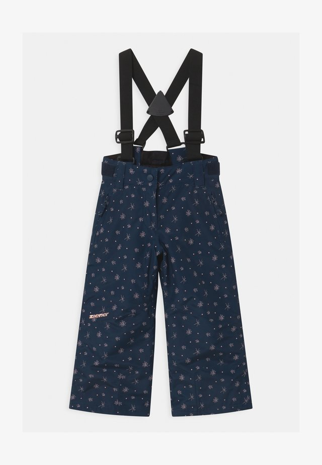 AVATINE SLIM UNISEX - Snow pants - dark blue