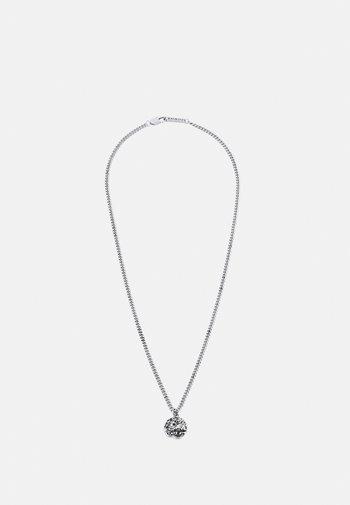 MOLTEN ROUND PENDANT NECKLACE - Necklace - silver-coloured