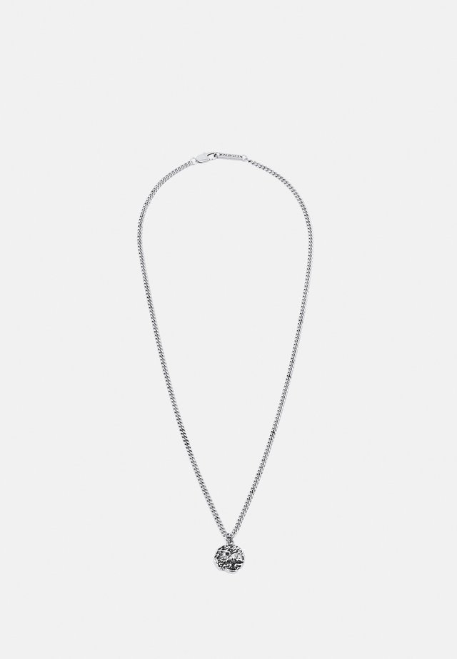 MOLTEN ROUND PENDANT NECKLACE - Halsband - silver-coloured