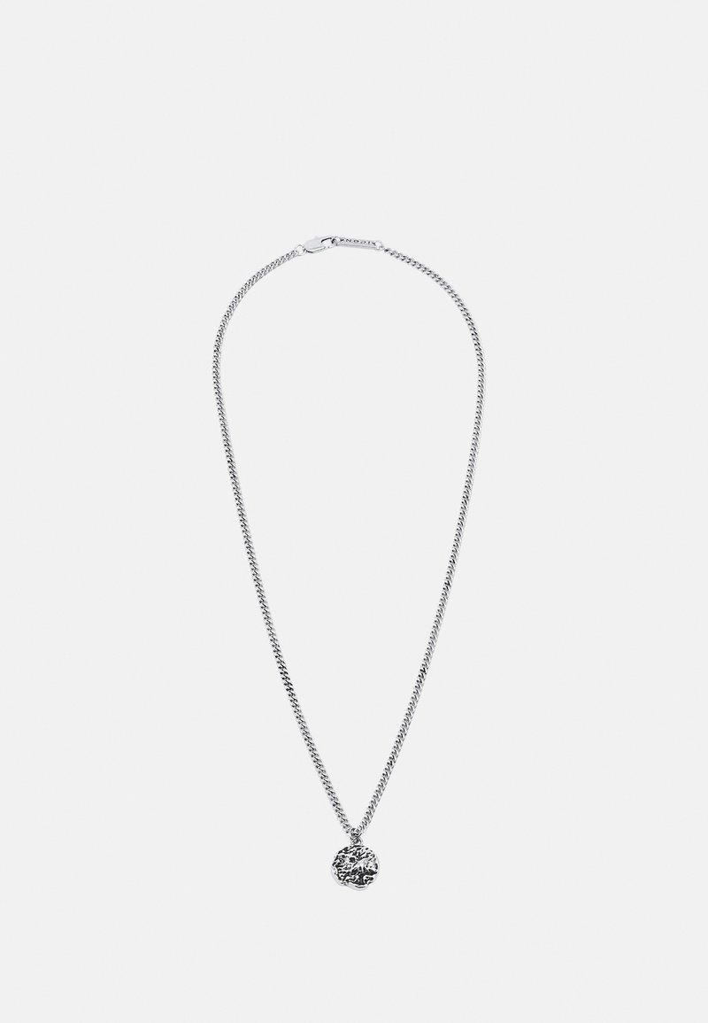 Icon Brand - MOLTEN ROUND PENDANT NECKLACE - Halsband - silver-coloured