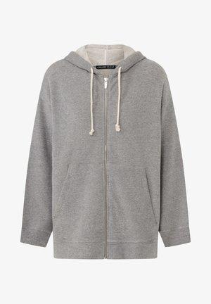 Sweat à capuche zippé - light grey