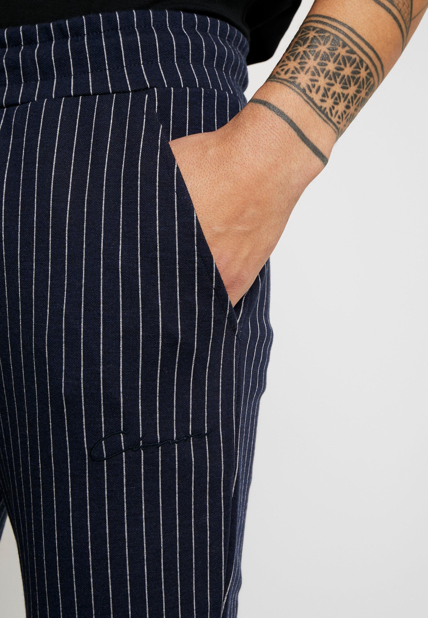 Closure London Pin Stripe - Joggebukse Navy/mørkeblå