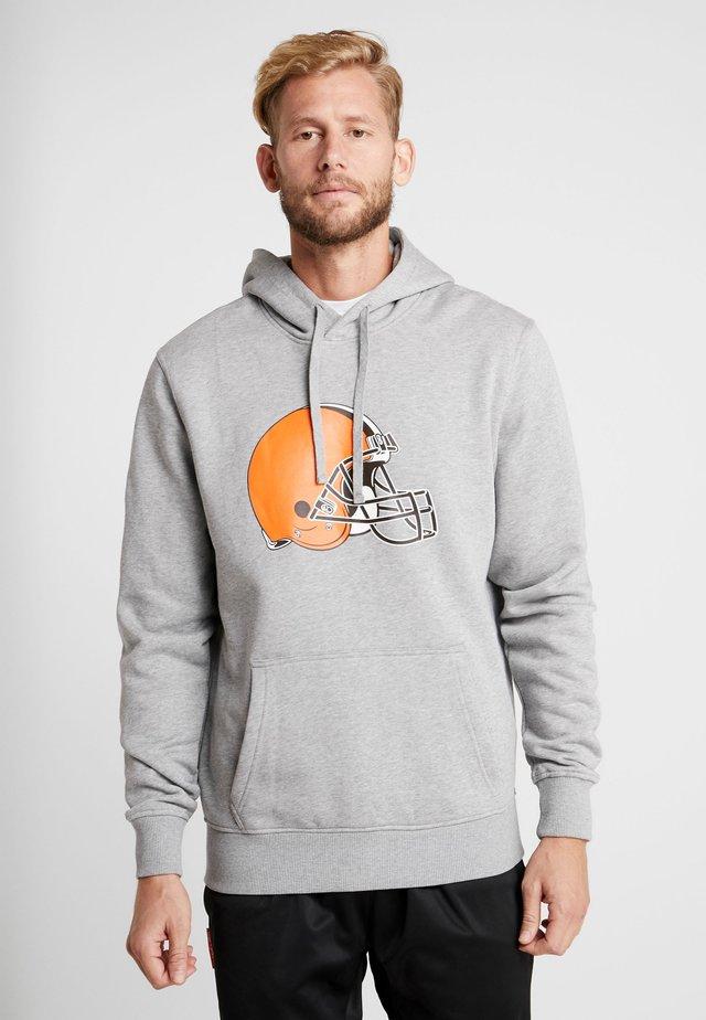 NFL CLEVELAND BROWNS LOGO HOODIE - Hoodie - grey