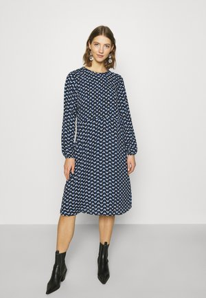 JDYBOSTON DRESS - Korte jurk - black/surf the web/cloud dancer