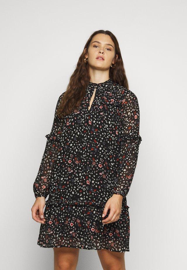 VMMILLE FRILL SHORT DRESS - Korte jurk - black/navy
