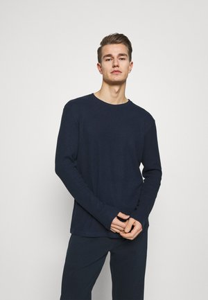 RIBBED LOUNGE TOP - Pyžamový top - dark blue