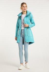 Schmuddelwedda - Short coat - türkis melange - 1
