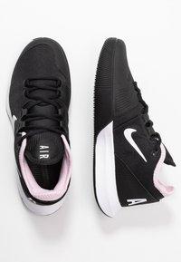 Nike Performance - COURT AIR MAX WILDCARD - Multicourt tennis shoes - black/white/pink foam - 1