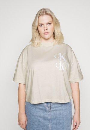 OVERSIZED TEE - Print T-shirt - soft cream