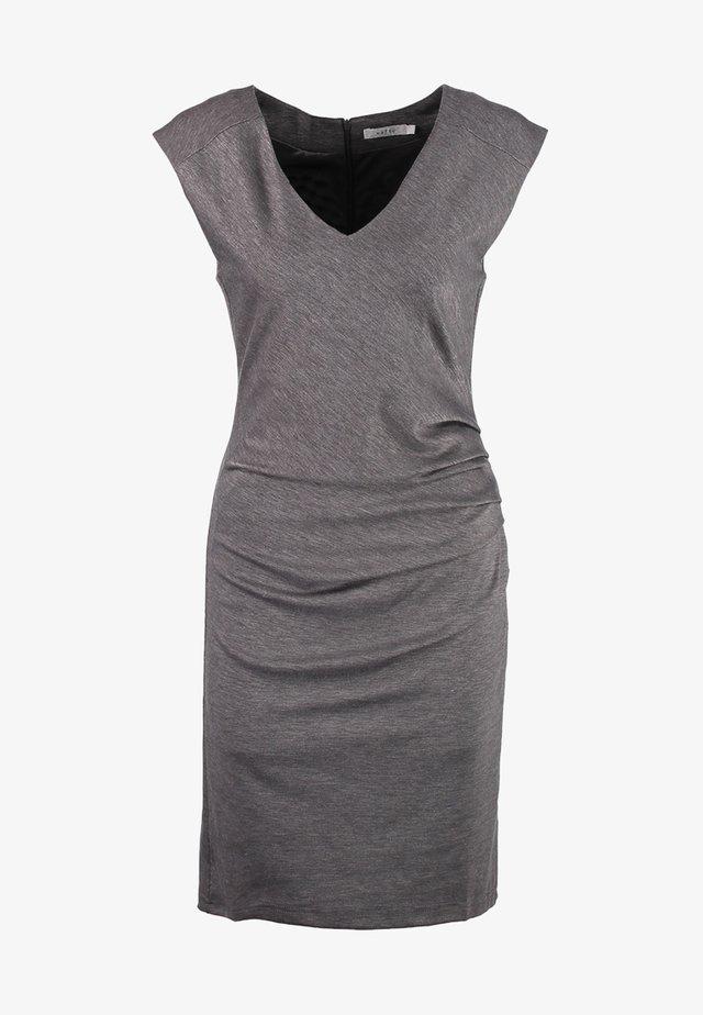 INDIA V NECK DRESS - Shift dress - dark grey melange