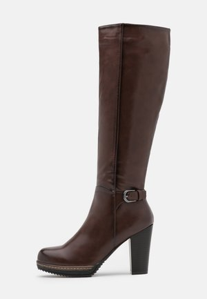 Platform boots - dark brown