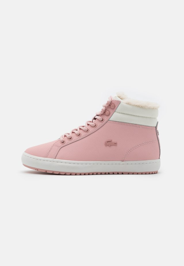 STRAIGHTSET - Baskets montantes - pink/offwhite