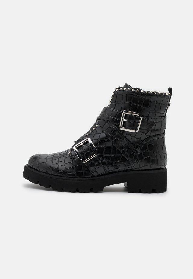 HOOFY - Cowboy/biker ankle boot - black