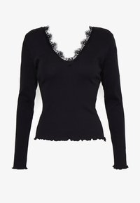 Nly by Nelly - DEEP V - Topper langermet - black - 3