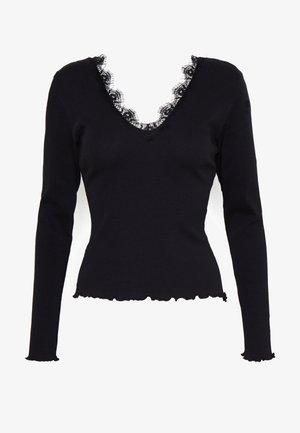 DEEP V - T-shirt à manches longues - black