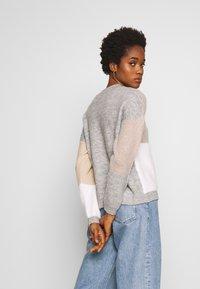 New Look - PATCHWORK JUMPER - Cardigan - cream - 2