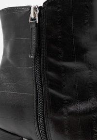 Topshop Wide Fit - WIDE FIT EDDIE PLATFORM BOOT - High heeled ankle boots - black - 2