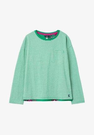 Long sleeved top - grün geblümt