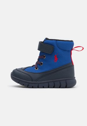 BARNES BOOT - Lace-up ankle boots - royal/navy/red