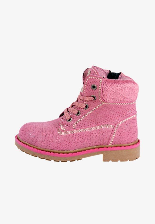 MIT REISSVERSCHLUSS - Lace-up boots - fuchsia