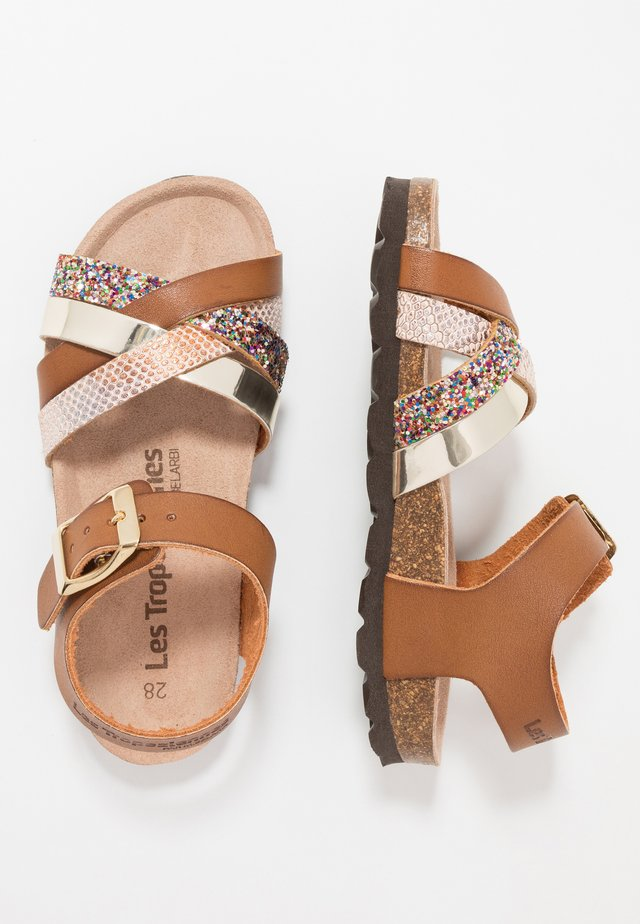 PARODIE - Sandals - tan/multicolor