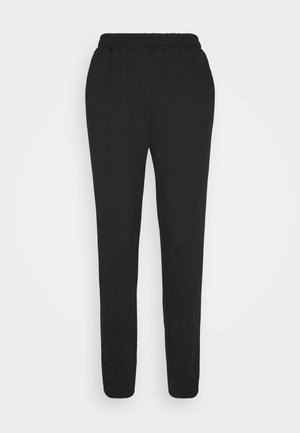 Regular fit joggers without drawstring - Tracksuit bottoms - black