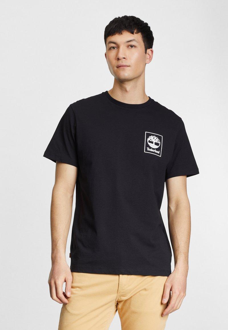 Timberland - Print T-shirt - black/white