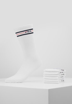 LIFESTYLE PLAIN SOCKS 6 PACK - Strumpor - white