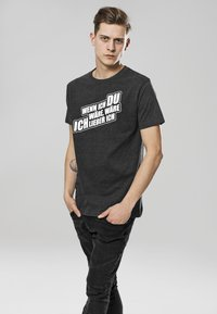 Mister Tee - T-shirt print - charcoal - 0