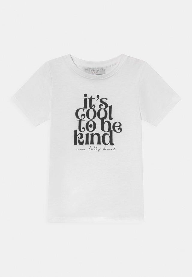KIDS COOL TO BE KIND TEE - Print T-shirt - white
