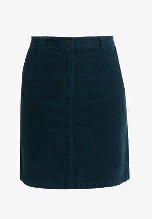 SKIRT STYLE DETAIL - A-line skirt - dusky emerald
