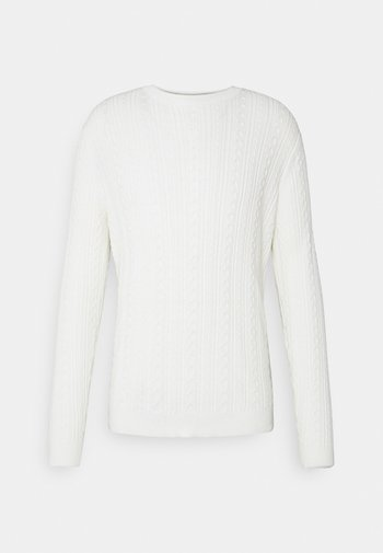 ONSRIGE THIN CABLE CREW NECK