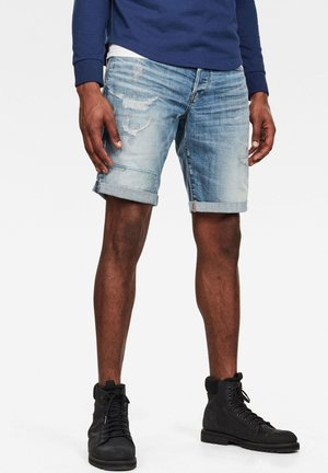 3301 - Shorts di jeans - sun faded prussian blue restored