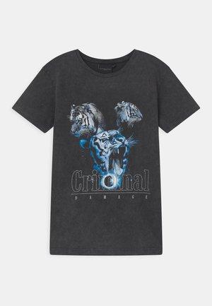 TIGER COLLAGE  - Camiseta estampada - washed black