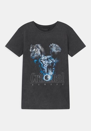 TIGER COLLAGE  - Print T-shirt - washed black