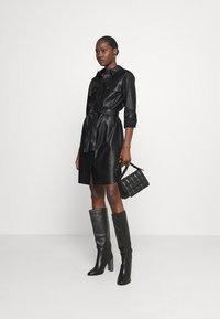 Opus - WELONI - Robe chemise - black - 1