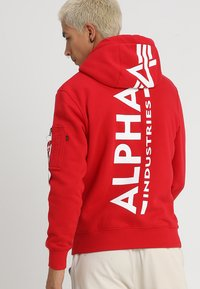 Alpha Industries - BACK PRINT HOODY - Sweat à capuche - speed red - 0