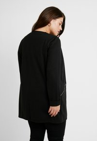 Evans - ZIP DETAIL - Short coat - black - 2