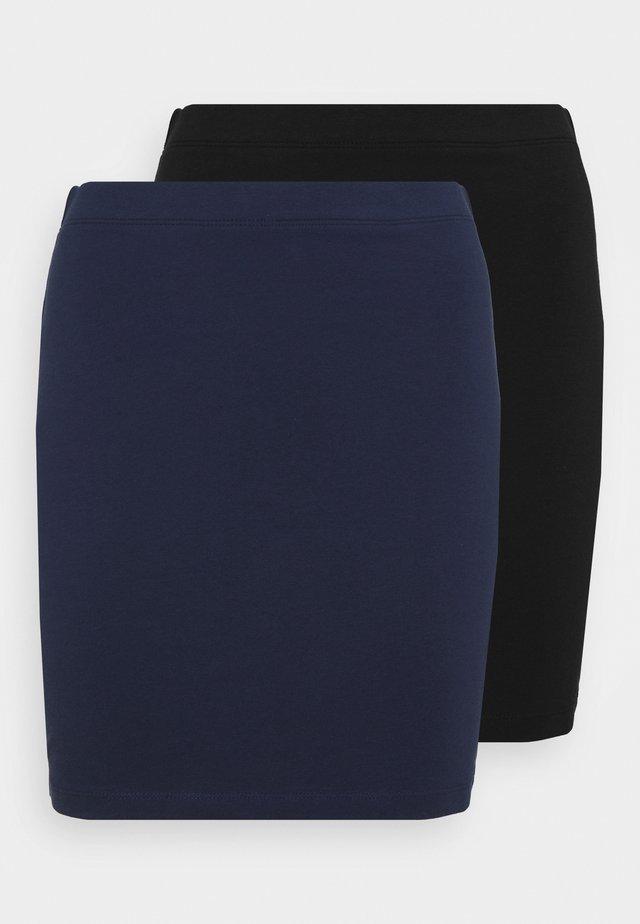 2 PACK - Minirok - dark blue/black