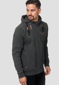 INDICODE JEANS - ELM - Zip-up hoodie - charcoal - 4