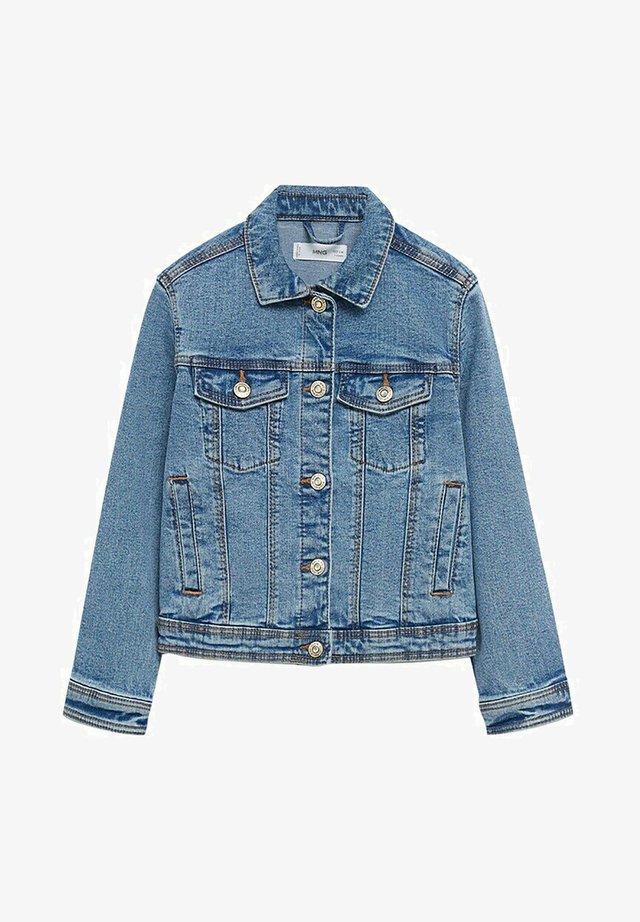 MET ZAKKEN - Giacca di jeans - middenblauw