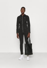 ONLY Tall - ONLINC CALLI ZIP  - Jumpsuit - black denim - 1