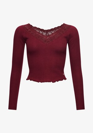 LACE POINTELLE - Long sleeved top - deep port