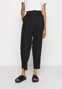 Monki - SADIE TROUSERS - Trousers - black dark test for store - 0