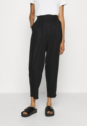 SADIE TROUSERS - Tygbyxor - black dark test for store