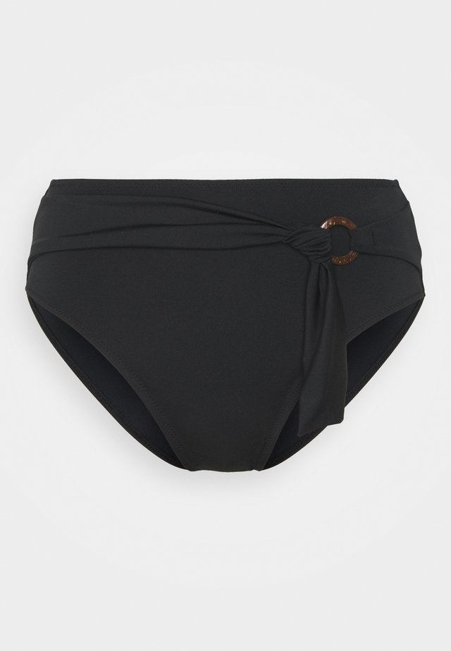 COCO WAVE HIGH WAIST BRIEF - Bikinibroekje - black