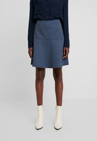 TOM TAILOR - SKIRT CASUAL - Mini skirt - navy blue - 0