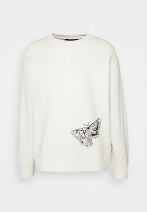 Byron Denton x NU-IN MELTED BUTTERFLY - Sweatshirt - off white